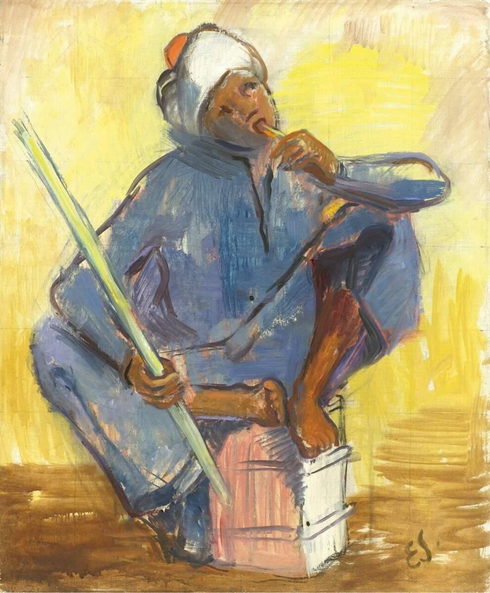 Araberjunge mit Wasserpfeife, 1952, Sammlung Joseph Hierling