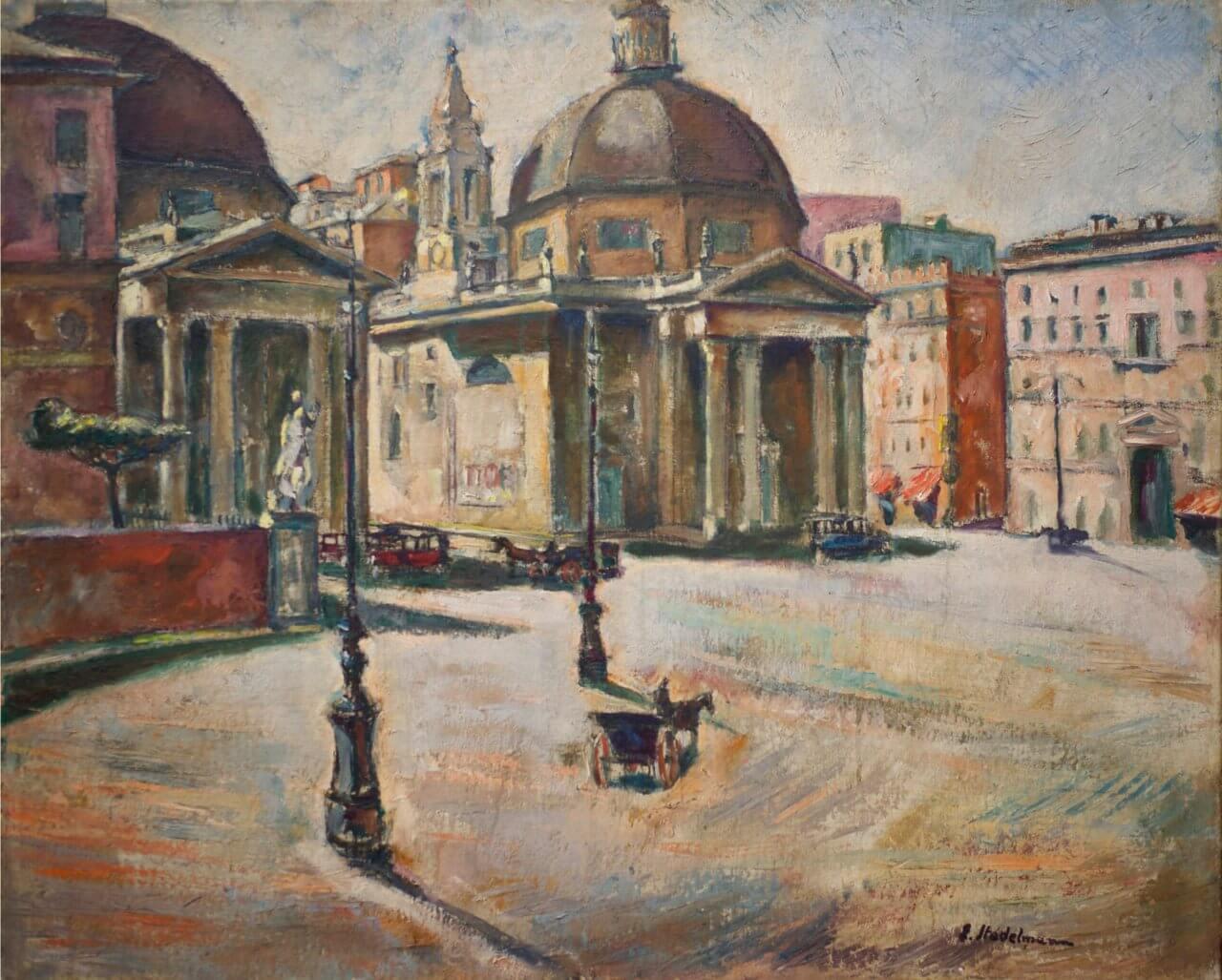 Rom, Piazza del Popolo, 1927, Sammlung Joseph Hierling