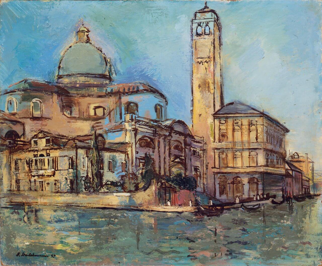 Venedig, San Geremia und Palazzo Labia, 1957, Stadema Stiftung