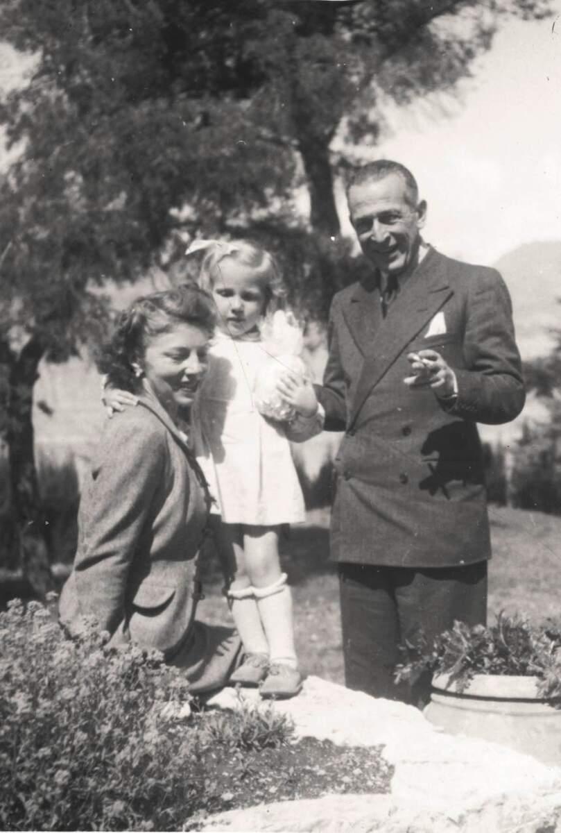 Familie Stadelmann in Malcesine, um 1945